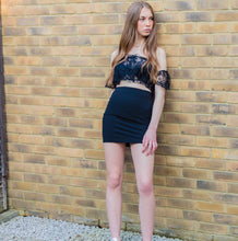 Black Tube Mini Skirt - LACHERE