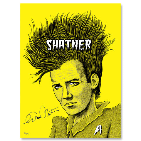"""SHATNER: COVERED IN PUNK"" SIGNED LTD ED SCREEN PRINT"