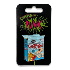 Wormy Oh's Glitter Cereal Box Enamel Pin