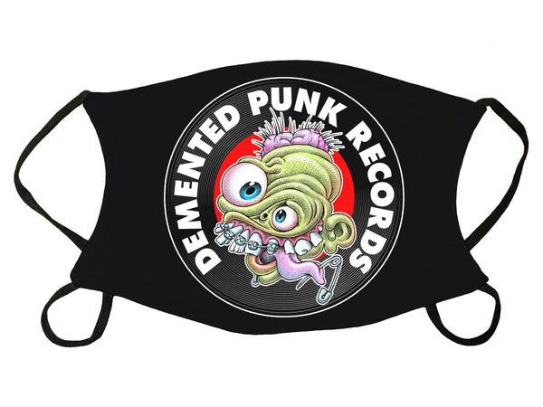 Demented Punk Logo Face Mask