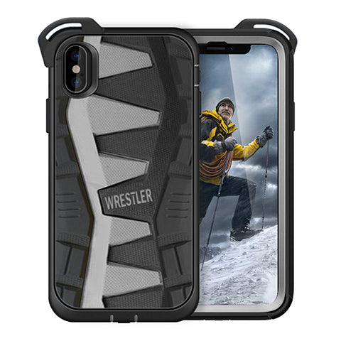 iPhone X  case/ [iPhone X Screen Protector ] [12 ft. Military Grade Drop Tested] Holster Belt Clip