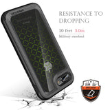 Drop proof Triple-Layer Protective Transparent Hard Back Trendy Phone Cover for iPhone 7 PLUS  (Black/Yellow)