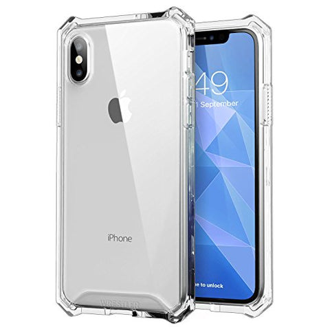 Transparent Shockproof Protective iPhone 10 Case with Reinforced Corners and Scratch Proof Hard Back Panel