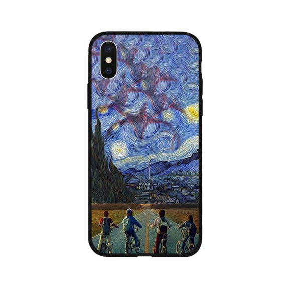 Stranger Things Starry Night iPhone Case iPhone Case Merchyes For iPhone Xs