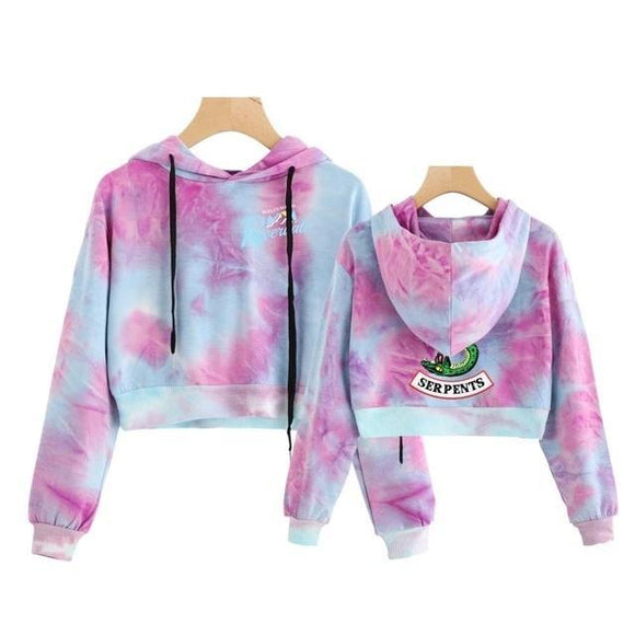Riverdale Acid Wash Cropped Hoodie Cropped Hoodie Merchyes X Large