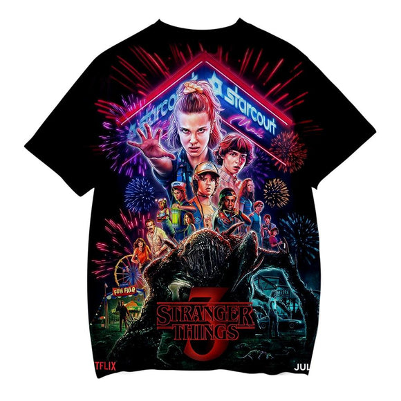 Stranger Things 3D T-Shirt Shirt Merchyes Stranger Things 3 XX-Small