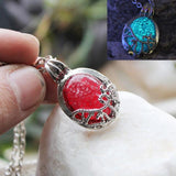 Vampire Diaries Luminous Stone Necklace Necklace Merchyes Ruby