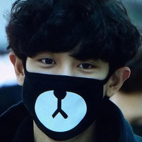EXO Chanyeol Cute Bear Face Mask