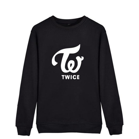 TWICE Sweatshirt Sweatshirts Merchyes TWICE / Black XXS