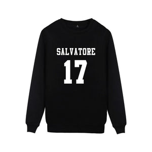 Vampire Diaries Salvatore 17 Sweater Sweater Merchyes Black S