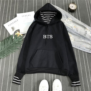 BTS Classic Striped Hoodie