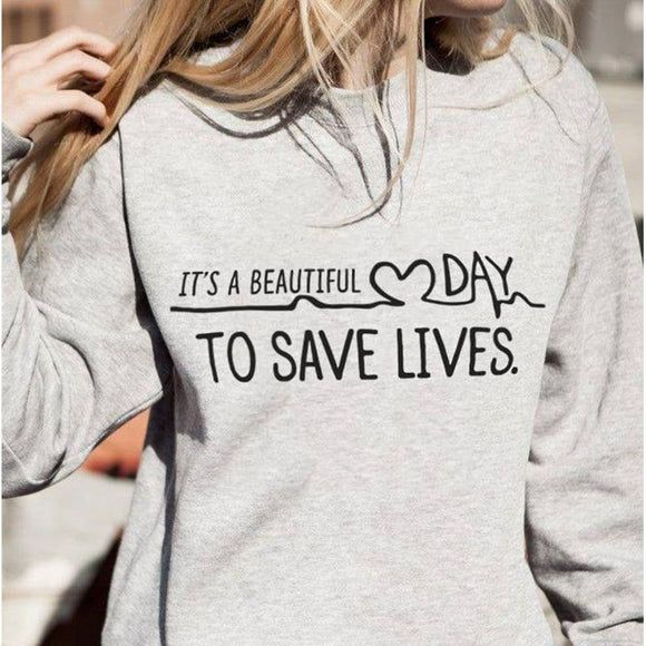 Greys Anatomy Save Live Sweaters Sweaters Merchÿes Grey L