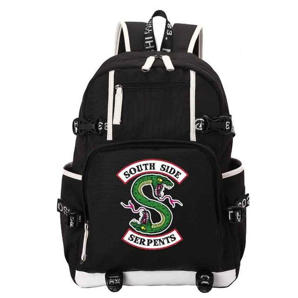 Riverdale Southside Serpents Backpacks Backpack Merchyes Southside Serpents Black