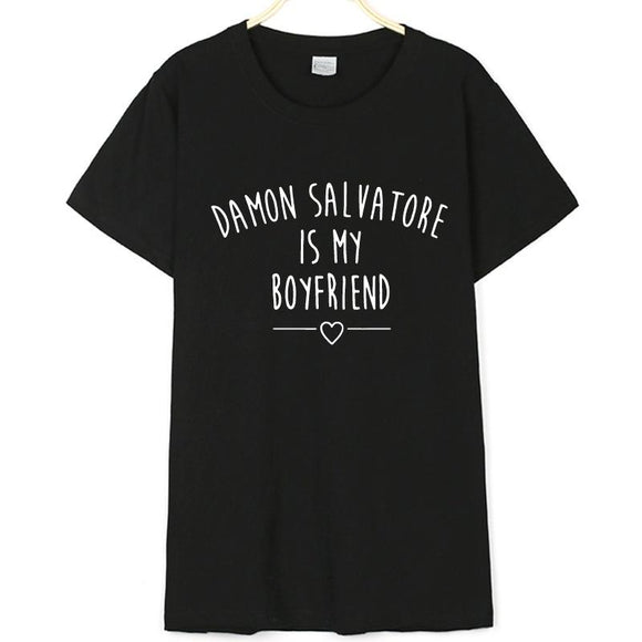 Damon Salvatore Is My Boyfriend Shirt Merchyes