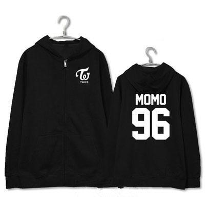 TWICE Zip-Up Bias Hoodies Zip Up Hoodie Merchyes MOMO L
