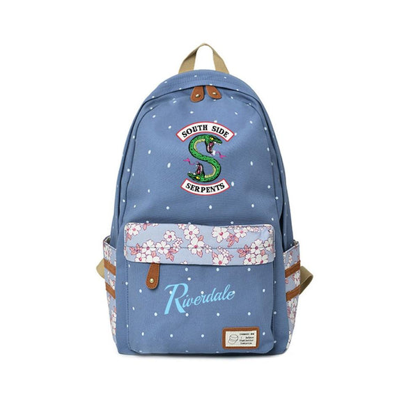 Riverdale Floral Backpacks Backpack Merchyes Light Blue
