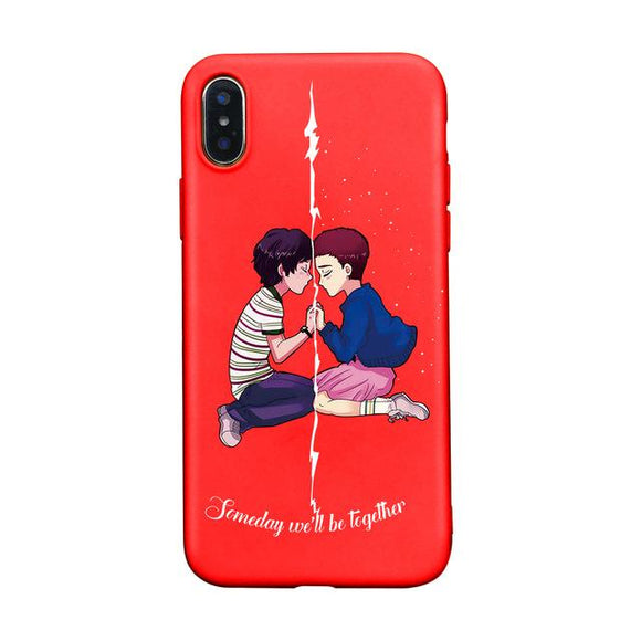Mike And 011 Stranger Things iPhone Case iPhone Case Merchyes For iphone X red-4584