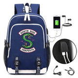 Riverdale Southside Serpents Handy Backpack Backpack Merchyes Navy