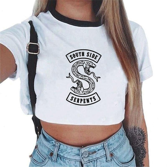 Riverdale Southside Serpents Cropped Shirt Merchyes