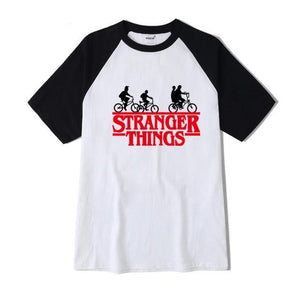 Stranger Things T-Shirt T-Shirt Merchyes White and red S