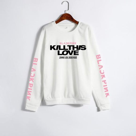 BLACKPINK Kill This Love Sweater Sweater Merchyes White XXXL
