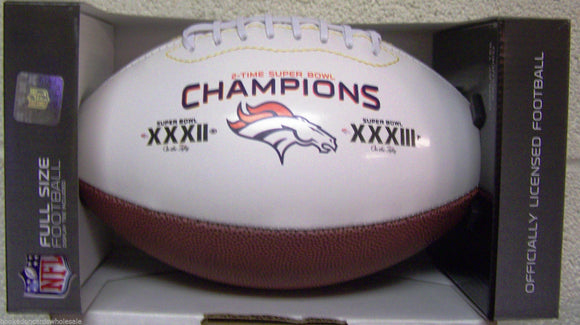 Denver Broncos Football Full Size On The Fifty 2 Time Champ