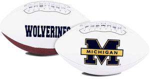 Michigan Wolverines Football Full Size Embroidered Signature Series