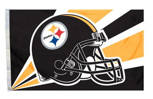 Pittsburgh Steelers Flag 3x5 Helmet Design