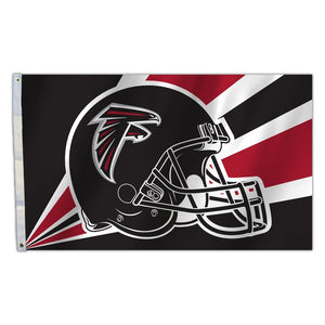 Atlanta Falcons Flag 3x5 Helmet Design - Special Order