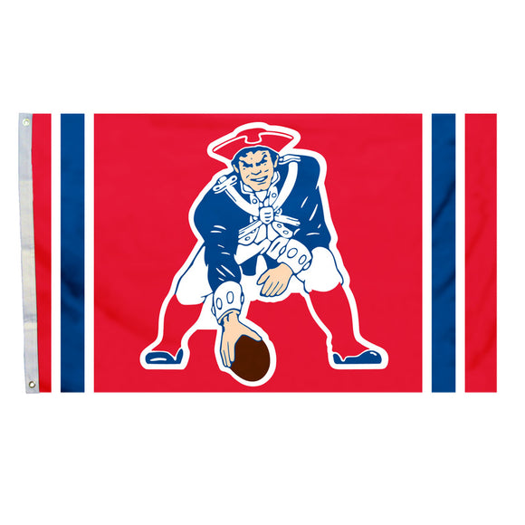 New England Patriots Flag 3x5 All Pro Throwback Logo