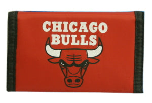 Chicago Bulls Wallet Nylon Trifold Red