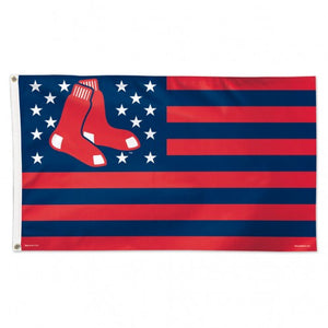 Boston Red Sox Flag 3x5 Deluxe Style Stars and Stripes Design