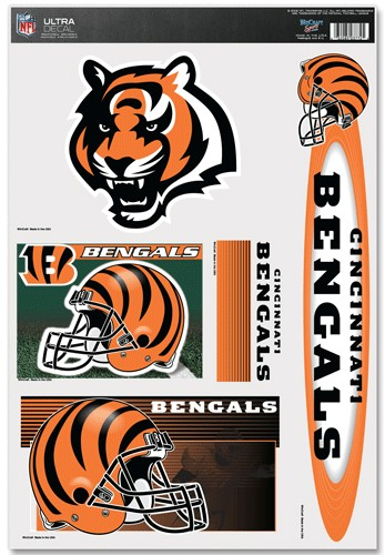 Cincinnati Bengals Decal 11x17 Multi Use