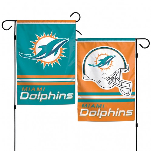 Miami Dolphins Flag 12x18 Garden Style 2 Sided