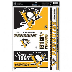 PIttsburgh Penguins Decal 11x17 Multi Use 5 Decals - Special Order