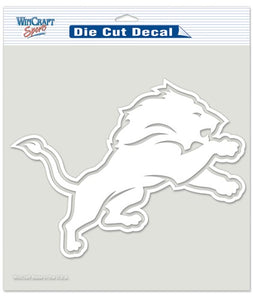 Detroit Lions Decal 8x8 Die Cut White