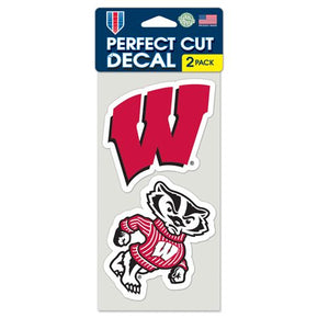 Wisconsin Badgers Set of 2 Die Cut Decals