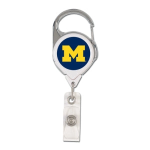 Michigan Wolverines Retractable Premium Badge Holder