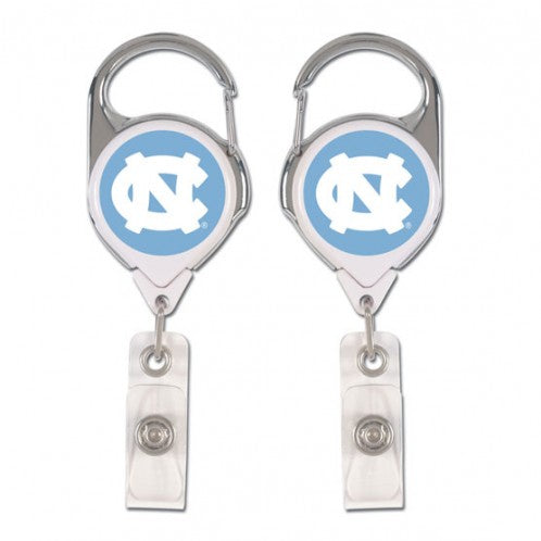 North Carolina Tar Heels Badge Holder Premium Retractable