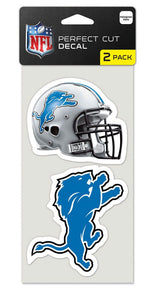 Detroit Lions Set of 2 Die Cut Decals