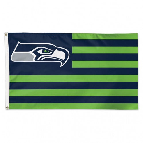 Seattle Seahawks Flag 3x5 Deluxe Americana Design