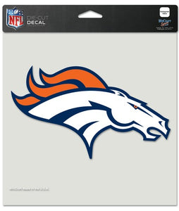 Denver Broncos Decal 8x8 Die Cut Color