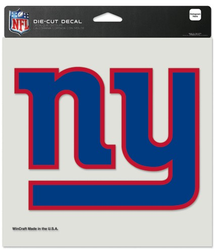 New York Giants Decal 8x8 Die Cut Color