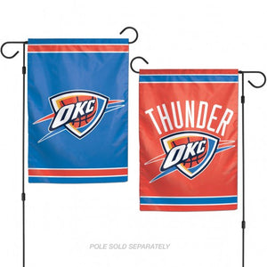 Oklahoma City Thunder Flag 12x18 Garden Style 2 Sided