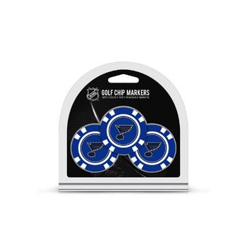 St. Louis Blues Golf Chip with Marker 3 Pack - Special Order