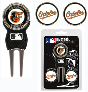 Baltimore Orioles Golf Divot Tool with 3 Markers - Special Order
