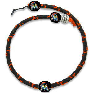 Miami Marlins Necklace Frozen Rope Team Color Baseball