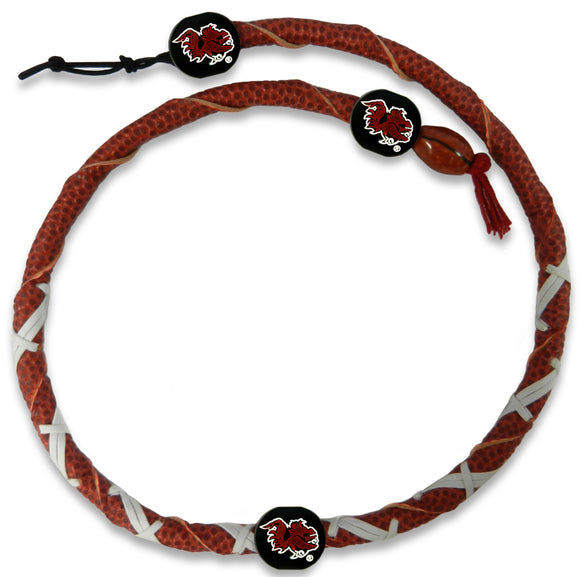 South Carolina Gamecocks Spiral Football Necklace