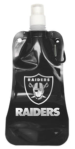 Las Vegas Raiders 16 ounce Foldable Water Bottle