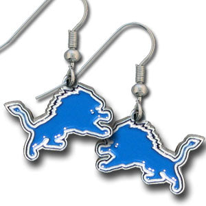Detroit Lions Earrings Dangle Style